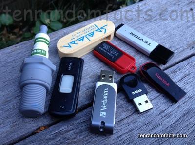 USB Flash Drives, Stick, Tevion, Cruzer SanDisk, Verbatim, D-Link, SanDisk Cruzer Blade, SanDisk, Cruzer Switch, Spelean, Bosch Sparck Plug, Ten Random Facts