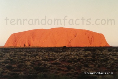 Uluru Sunset, Sedimentry Rock, World Heritage, Orange, Igneous Australians, Ayers Rock, Aboriginals, Northern Territory Australia, Ten Random Facts
