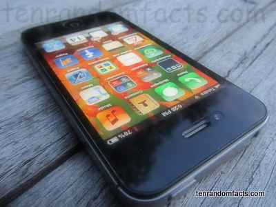 Apple Smart Phone Black iPhone 4S, Ten Random Facts