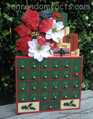 Advent Calendar, Christmas, Flowers, Presents, 24 days