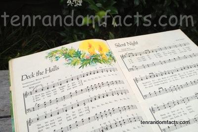 Carols, Deck the Halls, Silent Night, Music Sheets, Candles, Book, A Golden Book, Ten Random Facts