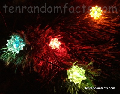 Christmas Lights, Yellow, Red, Blue, Green, wire, Christmas Tree, Spikey Star, Ten Random Facts