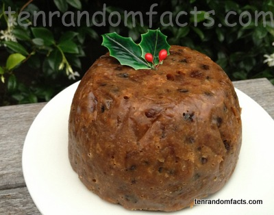 Christmas Pudding, Holly, Leaves, Fake, Round, Circular, Brown, Fruit Cake, Ten Random Facts