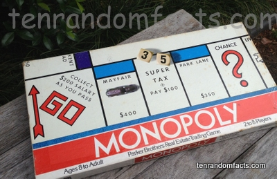 Monopoly, Parker Brother,s Box, Dice, Original, Ten Random Facts