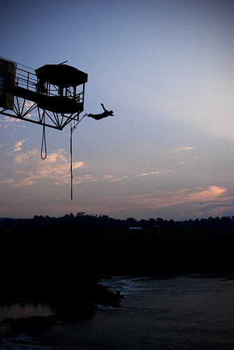 Bungee Jumping, Bungy, Fly, Nile, Eygpt, Africa, Sunset, Silliouette, Flickr, KCShearon, Ten Random Facts