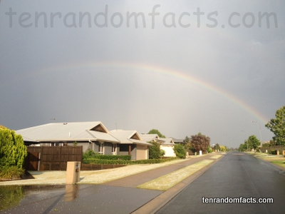 Rainbow, Primary, Dark, Low Contrast, Full, Three Quarter, Roy G Biv, Red, Orange, Yellow, Green, Blue, Indigo, Violet, Houses, Australia, Ten Random Facts