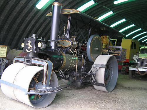 Steamroller, Old Fashion, Betsy, Steam Motor, Road roller, Flickr, Mr Pbps, Ten Random Facts, Green, Olive