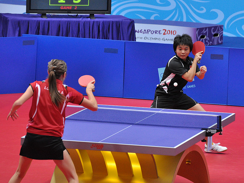 Excellent Table Tennis, Ping-Pong, 2010 Singapore Youth games, hit play, singles  500 x 375 · 129 kB · jpeg