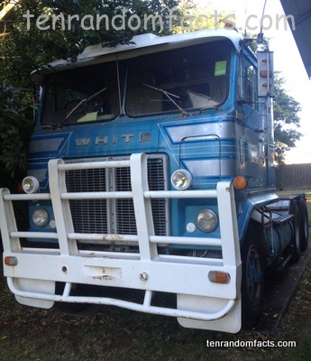 Truck, Blue, Old, Half, Cab, Front View, Australia, Ten Random Facts