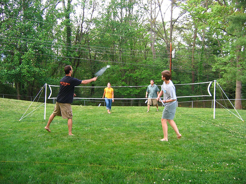 Badminto, Family, Doubles, Outside, Action, Hit, Flickr, Ten Random Facts, Sport, Park