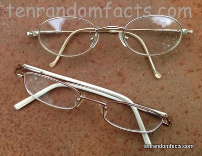 Rafting glasses, spectacles, two, round, square, lens, Ten Random Facts, Colourless, Brown