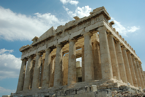 Parthenon, side, real, old, Greek, Greece, famous, structure, temple, Ten Random Facts, Flickr