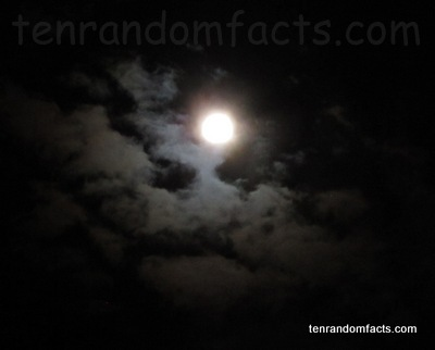 Moon, Full, Bright, Light, reflection, Small, Earth, Clouds, Australia, Planet, Ten Random Facts