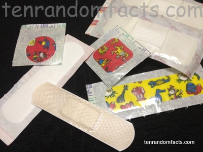 Adhesive Bandages, Sqaure, Circle, Strip, Kids, Waterproof, Open, Packet, Ten Random Facts, Woolworths