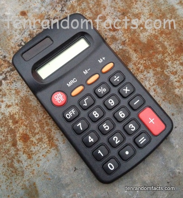 Calculator, Black, Normal, red, Buttons, solar, Ten Random Facts