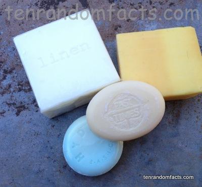Soap, soft, homemade, white, pink, blue, orange, Ten Random Facts, Australia, Bars