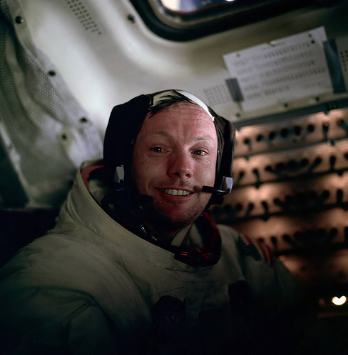 Neil Armstrong, Apollo 11, Space, Spacesuit, Moon, Astronaut, Ten Random Facts, Flickr, NASA