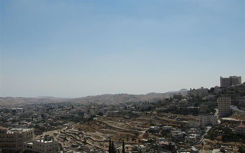 Bethlehem City, Town, Middle East, Palestine, Jesus' Hometown, modern, birds eye, panorama, Ten Random Facts, Flickr