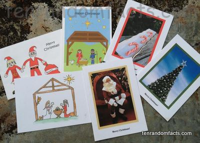 Christmas Cards, Santa Claus, Nativity, Imagine Make Believe, JJY Productions, Santa, Mrs Claus, Candy Canes, Jesus, Christmas Tree, Ten Random Facts.