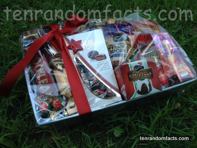Food Hamper, Christmas, Wicker Basket, Pudding, Chocolate, Sweets, Ten Random facts, Gift ideas