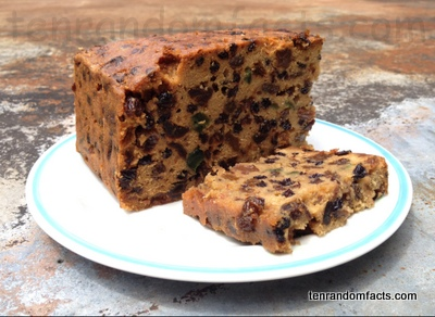 Fruitcake, Christmas cake, Sultana, Fruit, Slice, Ten Random Facts, Dessert, Food,