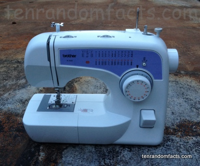 Sew, Sewing Machine, White, Blue, Dial, New, Ten Random Facts, Appliance, Textiles