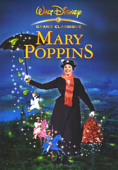 Mary Poppins Poster, Film, Walt Disne, Julie Andrews, Magic, Disney, Ten Random Facts