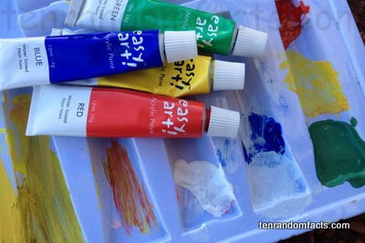 Acrylic Paint, Dry, Liquid, Yellow, Blue, Green, Red, White, Tray, Tube, Easy art. Ten Random Facts