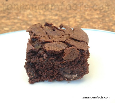 Chocolate brownie, brown, packet mix, cooked, Slice, Single, Ten Random Facts,