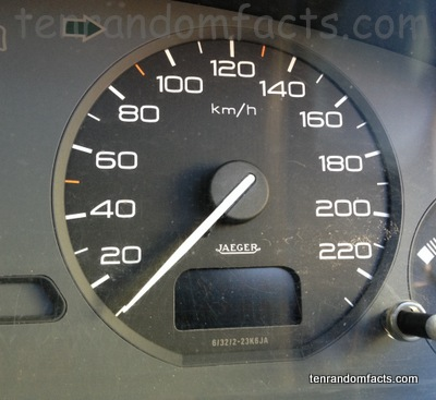 Speedometer, White, km/h, electric, 20 to 220, Ten Random Facts, Car