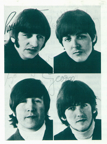 The Beatles, Four, Signed, Picture, Square, Ten Random facts, Rock, Flickr