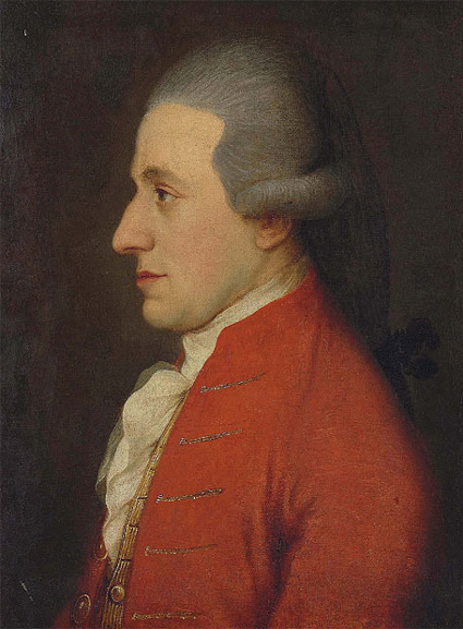 Wolfgang Amadeus Mozart, Portrait, Red, Coat, White, Grey, Old, Ten Random Facts, Flickr, Joseph Hickel