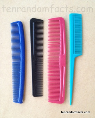 Comb, Pink, Black, Blue, Pale, Handle, Hairdresser, Ten Random Facts