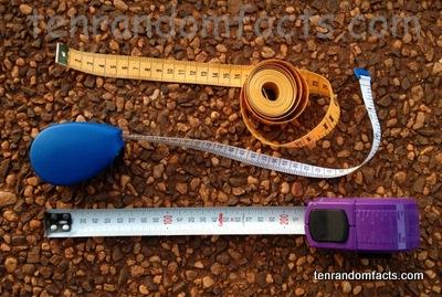 Tape measure, Metric, yellow, White, Metal, Construction, Tailor, Blue, Purple, Fibreglass, Ten Random Facts, Measuring Tape, Three