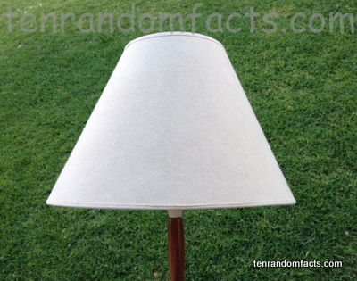 Lampshade white cream textile fabric lamp tall large