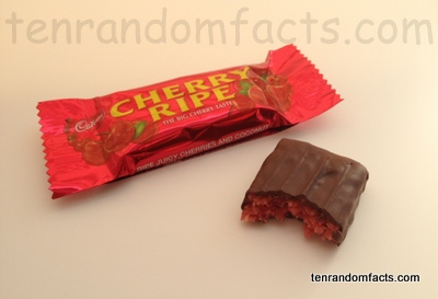 Cherry Ripe, Packet, Bar, Mini, Cadbury, Chocolate, Inside, Dark chocolate, Ten Random Facts, Delicious, Australia