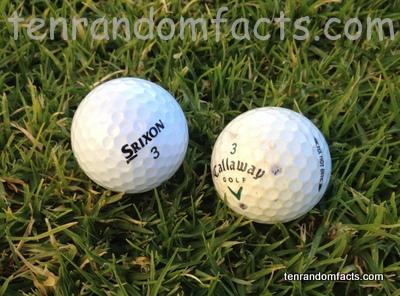 Golf Ball, Old, New, Two, Some, Sport, Ten Random Facts, Grass, Srixon, 3, Callaway