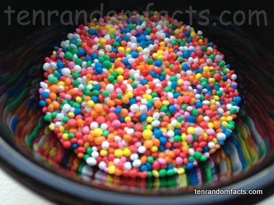 Nonpareils, Hundreds and Thousands, 100s & 1000s, Sprinkles, Gluten Free, Colourful, Color, Assortment, Many, Reflection, Ten Random Facts, Food, Confectionery, Decoration