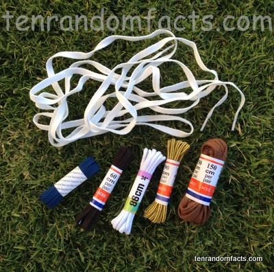 Shoelaces, Multiple, Loose, Packaged, Colours, White, Black, Blue, Brown, Ten Random Facts, Clothes