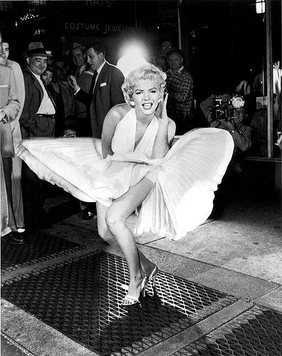 Marilyn Monroe, Pose, White, Actress, Flaps, Dress, Ten Random Facts, Female, Stunning,