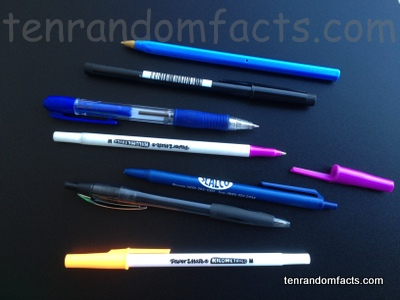 Ballpoint Pen, Bright, Colourful, Biro, Pink, Lid, Retractabel, Blue, black, White, Yellow, Ten Random Facts, Invention, Stationary