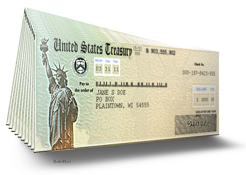 Cheques, America, Fake, 3D, Ten Random Facts, Money, Invention, Illustration