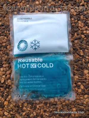 Ice Pack, Gel, Ten Random Facts, Blue, Hot and Cold, Reusable