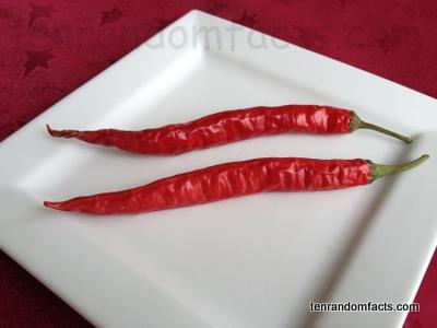 Chili Pepper, Red, Food, Vegetable, Vegetation, Ten Random Facts, Two, Plate, Grown, Australia, Chilli,