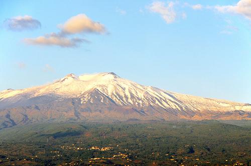 Mount Etna, Volcano, Stratovolcanic, Scenic, Italy, Sicily,  White, Sky, Flickr