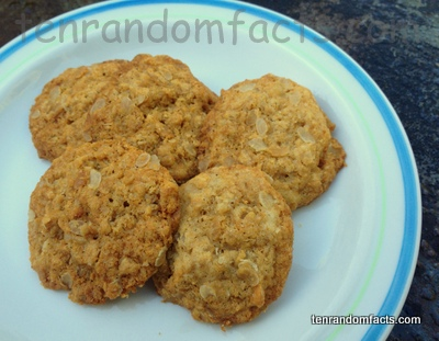 Cookie, Anzac, Golden, Ten Random Facts, Biscuit, Gluten Free, Culinary, Snack, Four, Group, Nice