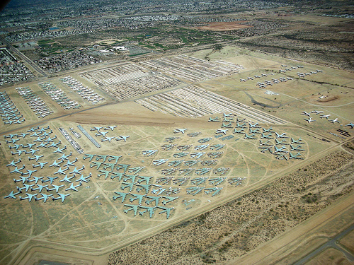 Aeroplane Boneyard, Aircraft Graveyard, Ten Random Facts, Tucson, America, Aerial, Birds Eye, Flickr