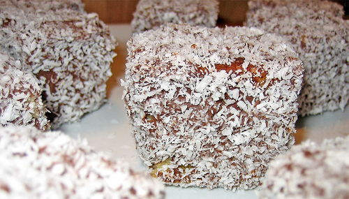 Lamingtons, Chocolate, Coconut, Cake, Ten Random Facts, Dessert, Squares, Prisim