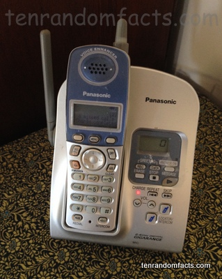 Telephone,  Digital, Ten Random Facts, Charger, Panasonic, Mobile, Invention, Communication