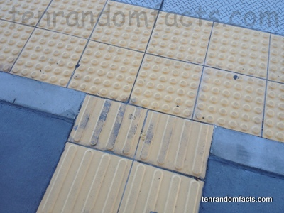 Tactile Paving, Pale, Yellow, Station, Drop, Ten Random Facts, Cross Section, Invention, Blind Tatics